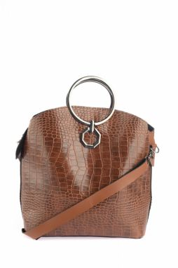 Trendyol Taba Buckle Detailed Kroko Women's Shoulder Bag