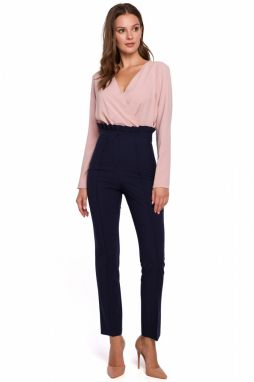 Makover Woman's Trousers K008 Navy Blue