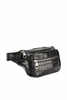 Trendyol Black Kroko Women's Waist Bag