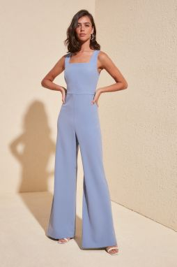 Trendyol Blue Square Neck Jumpsuit