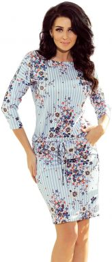 NUMOCO Woman's Dress 13-93 Blue/Flowers
