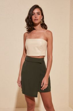 Trendyol Khaki Binding Detailed Skirt