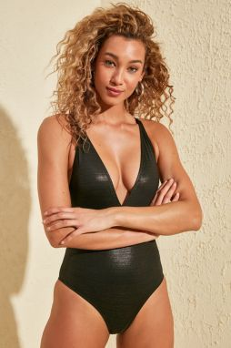 Trendyol Black Shiny Swimsuit