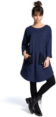 BeWear Woman's Dress B064 Navy Blue