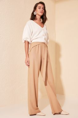 Trendyol Cream Binding Detailed Pants