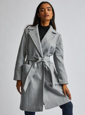 Dorothy Perkins Petite Grey Coat