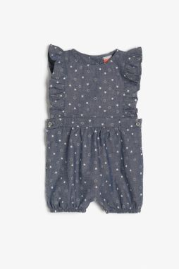 Koton Blue Baby Girl Patterned Jumpsuit