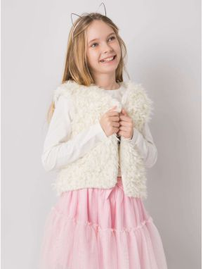 A cream fur vest for a girl