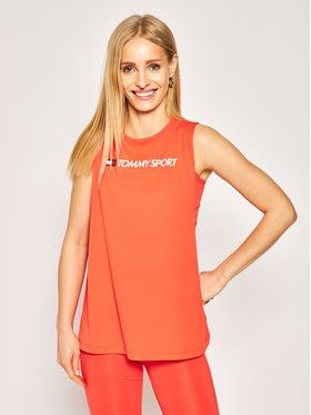 Tommy Sport Top Performance S10S100460 Červená Regular Fit