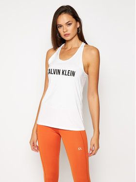 Calvin Klein Performance Top 00GWF0K169 Biela Regular Fit