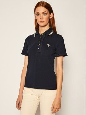 Tory Burch Polokošeľa Ruffle 73416 Tmavomodrá Regular Fit