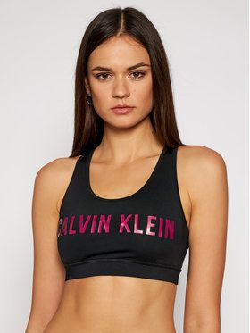 Calvin Klein Performance Podprsenkový top Medium Support 00GWF0K157 Čierna
