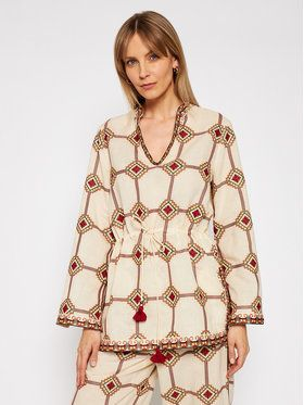 Tory Burch Tunika Embroidered 76789 Béžová Regular Fit