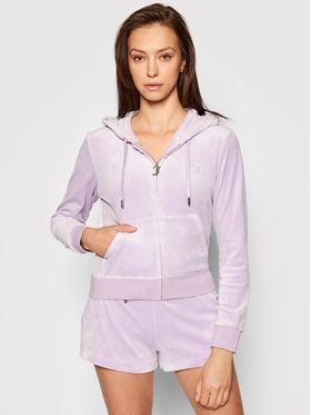 Juicy by Juicy Couture Mikina Robertson JCAP176 Fialová Slim Fit