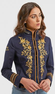 Sako La Martina Woman Jacket Twill - Modrá - 40