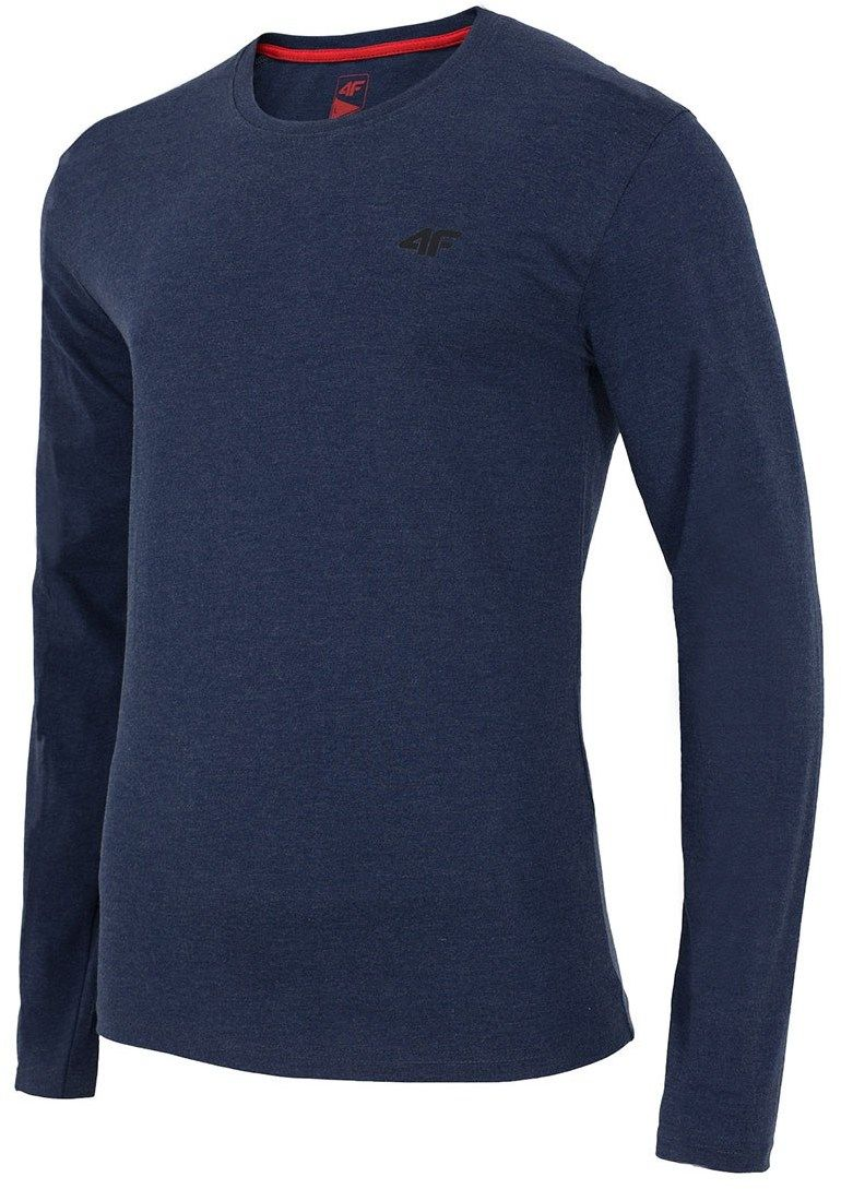75162d40e395 Pánske bavlnené tričko s dlhým rukávom Denim značky 4F - Lovely.sk