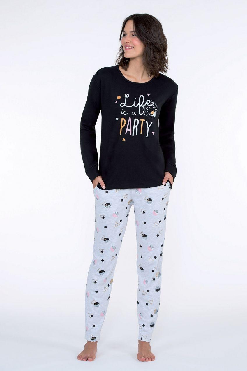 Dámske pyžamo Party čierne značky CTM Style - Lovely.sk e9fb9f0f48