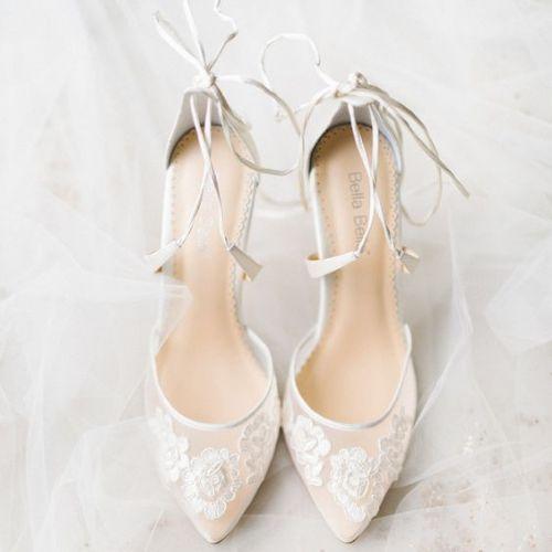 Biele svadobné lodičky - Lovely.sk a9db2a96777
